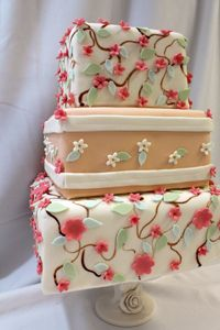 Liz Flower Branch Wedding Cake by Amanda Oakleaf Cakes, via Flickr