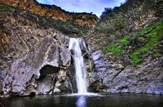 Paradise Falls (Wildwood Falls) USA    Paradise Falls (also referred to as Wildwood Falls) is a lovely 40ft waterfall in the canyons of Wildwood Park in the Thousand Oaks area just minutes east of the popular shopping outlet at Camarillo.