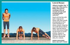 Jillian Michaels fitness exercise: Lateral burpee