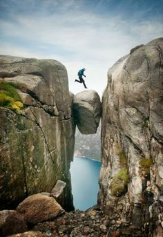 mountains, fairy tales, base jumping, kjeragbolten, leap of faith, places, rocks, hiking, norway
