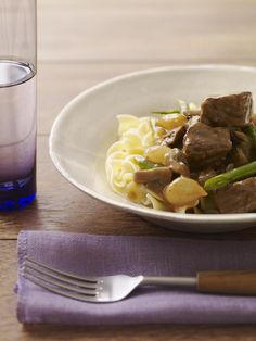 Slow Cooker Beef with Mushrooms and Red Wine #myplate #beef #slowcooker #fall