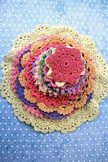 There is a mini red crochet doily in the inspiration kit this month...if you know how to crochet, here is a site with patterns for LOTS of doilies and mini doilies-Crochet Doilies