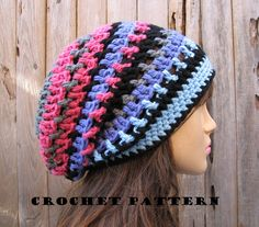 Crochet Hat - Slouchy Hat, Crochet Pattern PDF,Easy, Great For Beginners, Pattern No. 36 on Luulla