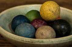 Clay Marble in Bowl #clay #marbles #still #life #stilllife Fine Art Prints from $22 click photo to order.
