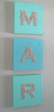 Glitter monograms