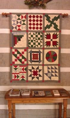 # Underground Railroad # Quilt  at Bristol Welcome Center quilt sampler, slave quilt
