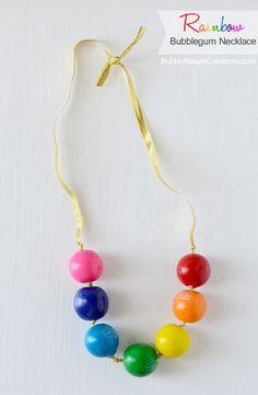 Pink Bubble Gum Inspiration board by Bella Bella Studios~ Bubble Gum Necklace by Bubble Nature Creations   #bubbles #gum #bubblegum #gumball #party #birthday #rainbow #bellabellastudios #necklace