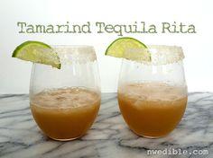 Tamarind Tequila Rita + Tamarind Simple Syrup