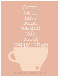 Tea+Happy Things