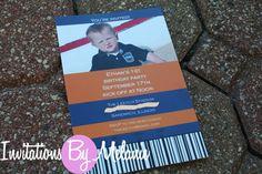 Ticket style birthday invitation by InvitesByMelanie on Etsy, $15.00