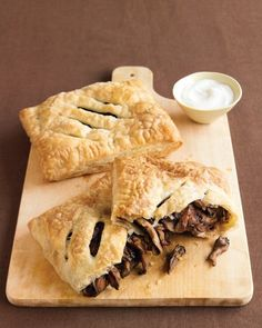 Mushroom Turnovers with Sour Cream Recipe