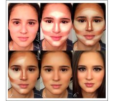 FROM THE OTHER SIDE: MAKE UP! Different face contouring patterns, i need to try these!
