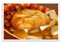 Crescent roll with brie cheese