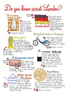 Secret London by Richard Gill. Bikesharing's included! Yay!