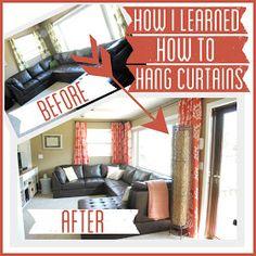 Bright Green Door Blog: My No Sew Pinch Pleat Curtains