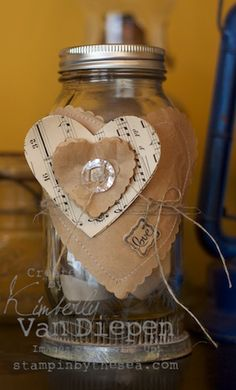 Valentines Jar with Love Notes