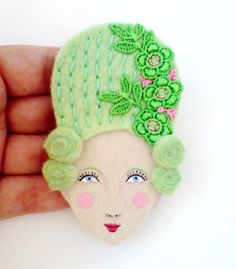 Marie Antoinette brooch on Etsy