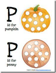 alphabet letters, printabl, preschool, dot