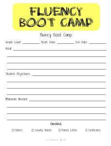 Check out this blog post about bringing a {Fluency Boot Camp} into your classroom! Many FREE materials and resources!