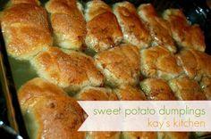 sweet potato dumplings - look super easy and delish!