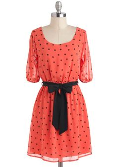 Cute coral dress #ModCloth