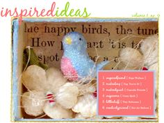 I want to make a bluebird like this. From one of Amy Powers' old (free) Inspired Ideas online magazines.