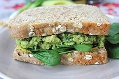 Smashed Avocado and Chickpea Sandwich