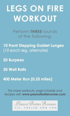 """""""Legs On Fire"""" Cardio Strength Workout"""