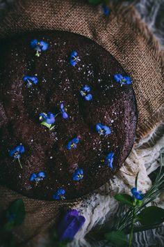 Salted Almond Flourless Chocolate Cake