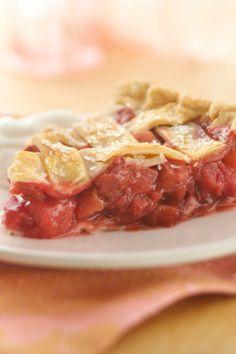 Strawberry and rhubarb - a sweet combo underneath a beautiful lattice crust.