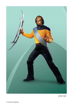 Star Trek: TNG Anniversary Art Prints: Worf