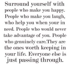 Life is too short to spend time with people who suck the happiness out of you. When you free yourself from negative people, you free yourself to be YOU – and being YOU is the only way to truly live. - via: http://www.marcandangel.com/2012/03/01/10-ways-happy-people-choose-happiness/