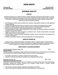 Business Analyst resume template that you can download and input your information into.