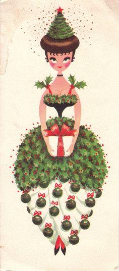 A vintage 1960s Christmas card. #vintage #Christmas #cards