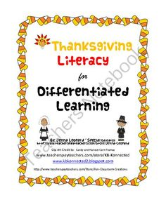 Thanksgiving Literacy for Differentiated Learning from Autism Classroom Creations on TeachersNotebook.com (7 pages)  - Thanksgiving Writing Prompts  Just in time for Thanksgiving! Engaging writing activities for all learners.  - Thanksgiving Literacy for Differentiated Learning was created for special education teachers who have varying levels styles.  Nonverbal to verbal