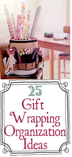 25 Ways To Organize Your Gift Wrapping + A $250 Organize.com Gift Card Giveaway | One Good Thing By Jillee