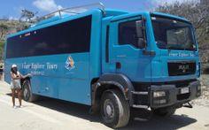 A gal and her bus by Sonia B  #fraserexplorer #fraserisland #queensland #australia www.fraserexplorertours.com.au