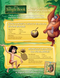 Groovy Jungle Smoothies. #BareNecessities