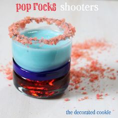 Pop Rocks shooters for the 4th of July #drinks #4thofjuly #poprocks
