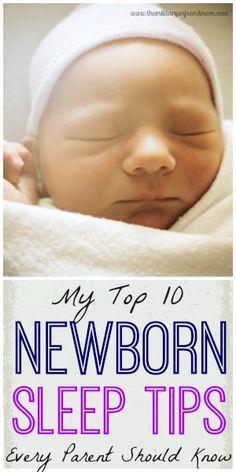 My Top 10 Newborn Sleep Tips