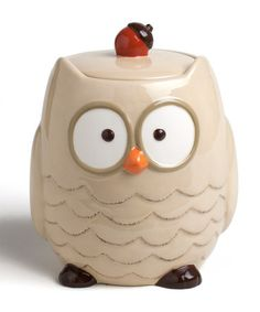 Take a look at this Owl Cookie Jar by tag