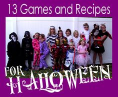 13 fun games and cute recipes for a Halloween Party for kids from @Jamie Wise Cooks It Up!
