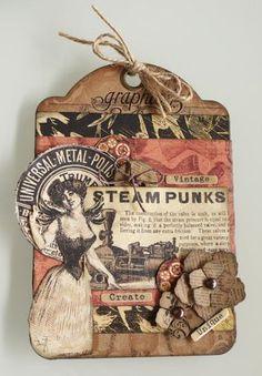 Steam Punk Tag by Tara Orr #Graphic45