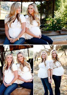 Sister maternity pics!