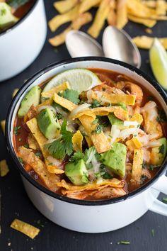 Chipotle Chicken Tortilla Soup   halfbakedharvest.com