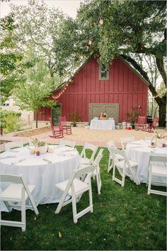 barn style rehearsal dinner #napawedding #destinationwedding #weddingchicks http://www.weddingchicks.com/2014/01/02/gold-and-white-wedding/