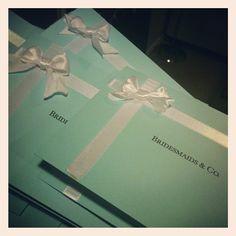 Custom Tiffany box invitations
