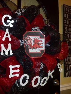 Gamecocks Door Wreath