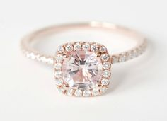 is this a rose gold engagement ring I see? :)