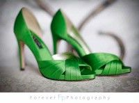 cute green shoes for the bridesmaids